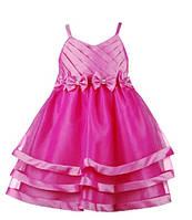 Малиновое детское нарядное платье для девочек