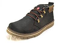 Ботинки  мужские с мехом  Switzerland кожаные  коричневые (р.41,42,43,44,45)