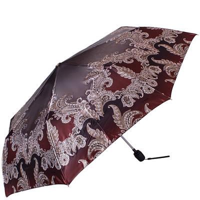Привлекательный женский зонт полуавтомат обратного сложения ТРИ СЛОН RE-E-100N-AC-3, цвет бордовый. Антиветер!