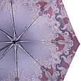 Привлекательный женский зонт полуавтомат обратного сложения ТРИ СЛОН RE-E-100N-AC-3, цвет бордовый. Антиветер!, фото 3