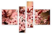 Модульная картина цветы вишни