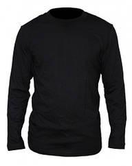 Мужская футболка с длинным рукавом черная