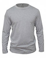 Мужская футболка с длинным рукавом серая L
