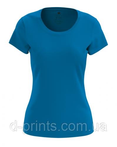 Футболка женская синяя Premium