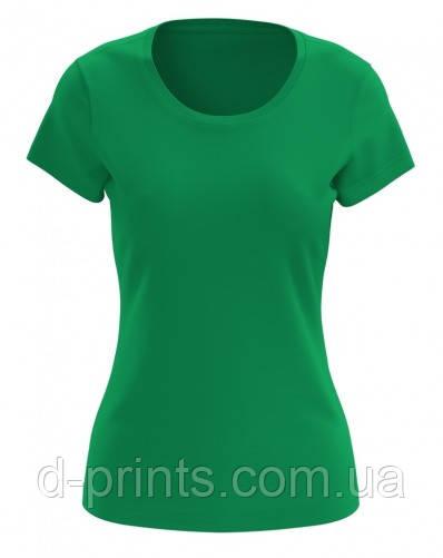 Футболка женская зеленая Premium.