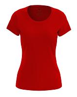 Футболка женская красная 100% cotton
