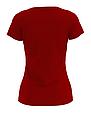 Футболка женская красная 100% cotton, фото 2