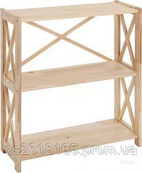 Стеллаж деревянный Ран 85*80*30см, 3 полки
