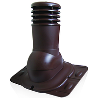 Проходной элемент вентиляции через кровлю KU 150мм (не утепленный)  Для монтажа на любой тип покрытия.