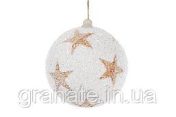 Набор шаров с медными звездами 12 шт(10 см)