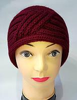 Женская вязаная шапка Катрин
