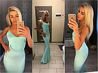 Платье в пол, вечернее шелковое платье длины макси, реплики Armani.