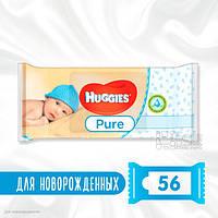Влажные салфетки Huggies Pure, 56 шт.