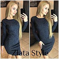 Платье женское, ангора софт темно-синий !, фото 1