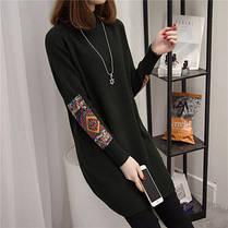Свитерок женский  длинный орнамент на рукаве, фото 3