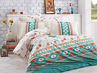 Комплект постельного белья  Hobby поплин размер евро Francesca зеленый