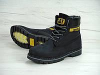 Зимние ботинки Caterpillar с мехом black (cat). Живое фото.