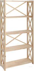 Стеллаж деревянный Ран 160*80*30см, 5 полок