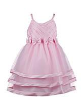 Светло-розовое детское нарядное платье для девочек