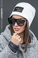 Женская теплая зимняя шапка