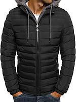 Мужская демисезонная куртка с капешоном черный 039