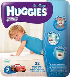 Подгузники HUGGIES Pants Джамбо Мальчик 5, 32шт (5029053544342)