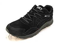 Кроссовки мужские Asics Gel-Lite  замшевые черные (асикс)(р.41,43)