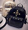 Мини рюкзак женский городской золотой, фото 8