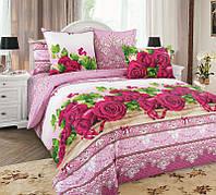 Ткань для постельного белья, бязь (хлопок) Розы 3Д
