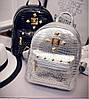 Мини рюкзак женский городской серебро, фото 2