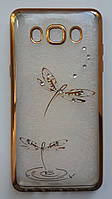 Силикон Beckberg Samsung A510 Dragonfly (Rose gold)