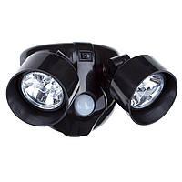 Двойной светильник с датчиком движения  - уличный светильник, фото 1