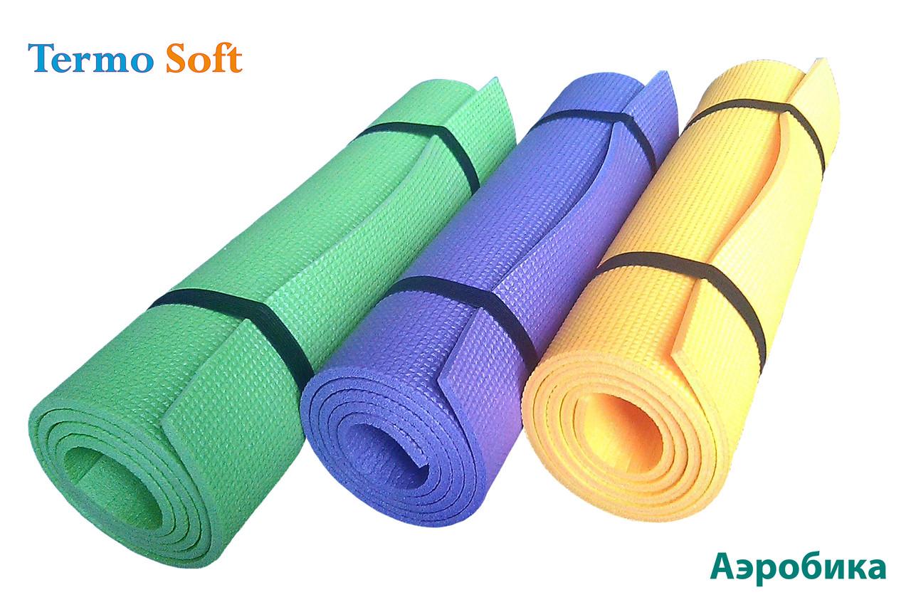 """Фитнес-каремат (коврик), толщиной 8 мм""""Аэробика XL"""" для занятий танцами , йогой, фитнесом, аэробикой, спортом."""