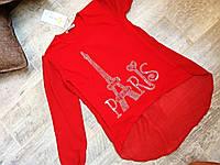 Блуза шифоновая для девочек 5-13 лет, Турция, красный