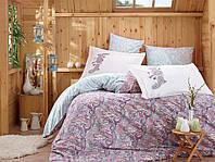 Комплект постельного белья  Hobby поплин размер евро Giulia сиреневый
