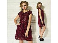 Платье праздничное мини пайетки, батал размеры, разные цвета., фото 1