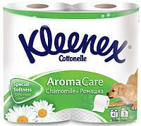 Туалетная бумага Kleenex трехслойный Ромашка 4р