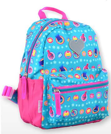 Рюкзак детский K-19 Trolls, 24.5*20*11 555308  1 Вересня, фото 2