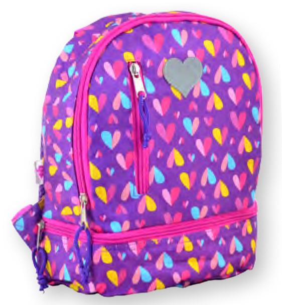 Рюкзак детский K-21 Hearts, 27*21.5*11.5 555314 YES