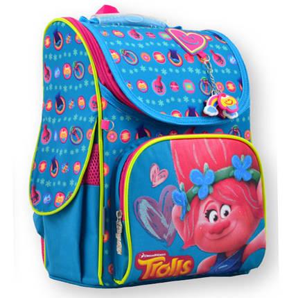 Рюкзак каркасный  Trolls turquoise  555162 1 Вересня, фото 2