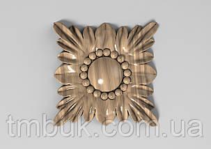 Розетка 25 - 60х60 - деревянная, фото 2