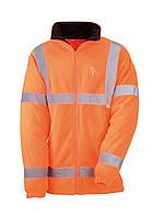 Куртка флисовая светоотражающая, 100% полиэстер, 280 г/ м2