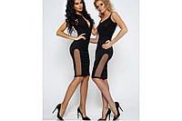 """Коктейльное черное платье длины миди """"Тейлор"""", разные размеры."""