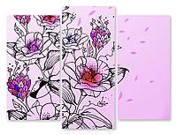 Модульная картина цветы рисунок 3д