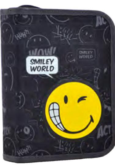 Пенал твердий одинарний з двома клапанами  Smiley world, 20.5*13.5*4.2 531760 YES