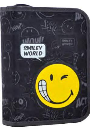 Пенал твердий одинарний з двома клапанами  Smiley world, 20.5*13.5*4.2 531760 YES, фото 2