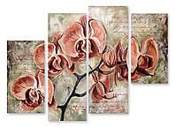 Модульная картина нарисованная орхидея