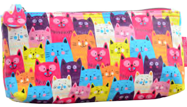 Косметичка ВT-11 Funny cats, 21*8.5*5.5 531652 YES