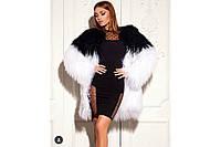 """Коктейльное черное платье длины миди """"Меган, разные размеры., фото 1"""