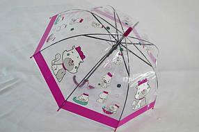 Прозрачный зонт в виде купола